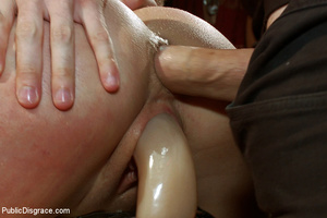 Blindfolded captured chick gets dp fucke - XXX Dessert - Picture 9