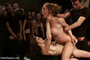 Blindfolded captured chick gets dp fucke - XXX Dessert - Picture 11
