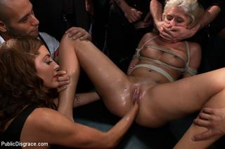 innocent lloking blonde slave