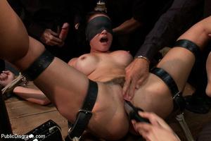 Busty bound slave milf forced to take tw - XXX Dessert - Picture 5