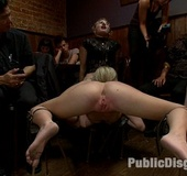 Captured in tough inescapable restraints blonde slave gets her ass reemed