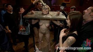 tied upside slave girl