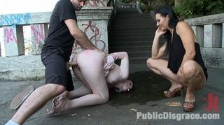roped slave milf butt