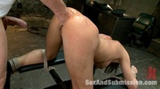 tied brunette slave gets