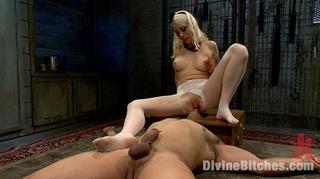 sexy blonde mistress white