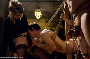 Two naked guys get hanged and get their  - XXX Dessert - Picture 14