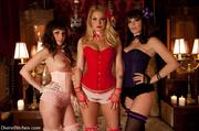three horny mistresses tied