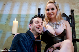 Crazy femdom pics of blonde babe using a - XXX Dessert - Picture 2