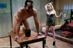 Crazy femdom pics of blonde babe using a - XXX Dessert - Picture 7