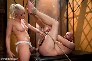 Tied up enslaved dude gets his pecker to - XXX Dessert - Picture 6