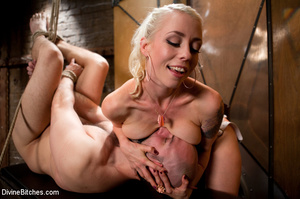 Tied up enslaved dude gets his pecker to - XXX Dessert - Picture 9
