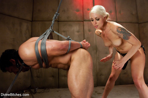 Nasty femdom pics of tied up and humilia - XXX Dessert - Picture 9