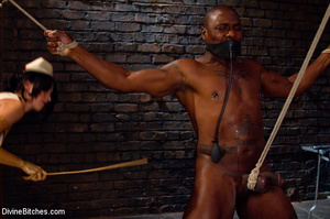 Big cocked black guy enslaved by white m - XXX Dessert - Picture 1