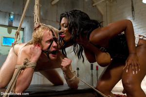 Ebony nasty mistress tied up her white s - XXX Dessert - Picture 6