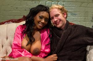 Ebony nasty mistress tied up her white s - XXX Dessert - Picture 7