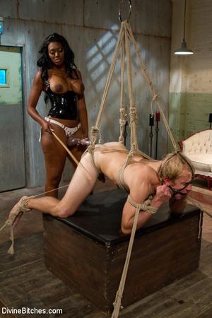 Ebony nasty mistress tied up her white s - XXX Dessert - Picture 15