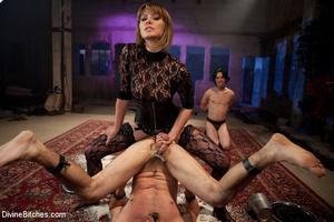 Straponed cruel mistress dominating two  - XXX Dessert - Picture 5