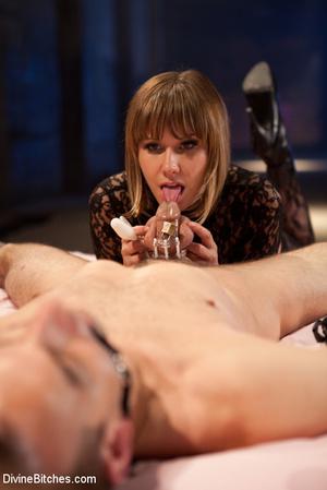 Straponed cruel mistress dominating two  - XXX Dessert - Picture 7