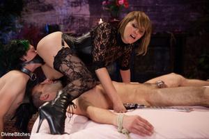 Straponed cruel mistress dominating two  - XXX Dessert - Picture 10
