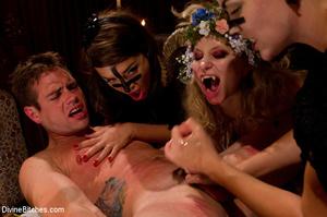 Three sexy mistress babes torturing thei - XXX Dessert - Picture 8