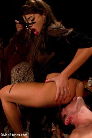 Three sexy mistress babes torturing thei - XXX Dessert - Picture 12