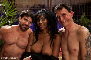 Two roped and cock abused slave guys get - XXX Dessert - Picture 7