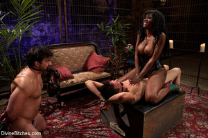 Two roped and cock abused slave guys get - XXX Dessert - Picture 8