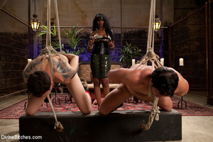 Two roped and cock abused slave guys get - XXX Dessert - Picture 14