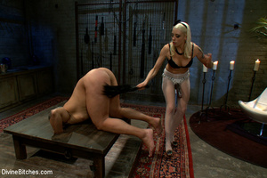 Blonde dominant babe in white stocking a - XXX Dessert - Picture 8