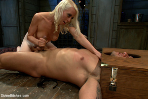Blonde dominant babe in white stocking a - XXX Dessert - Picture 10