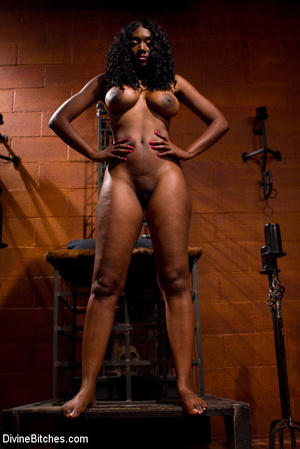 Femdom hot pictures of ebony busty babe  - XXX Dessert - Picture 13