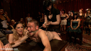 Enslaved naked guy gets his cock and ass - XXX Dessert - Picture 14