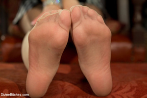 Two awesome mistresses give a footjob to - XXX Dessert - Picture 2