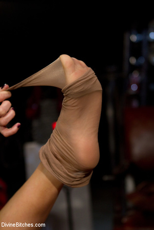 Two awesome mistresses give a footjob to - XXX Dessert - Picture 12