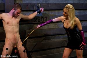 Perverted blonde babe dominates her ensl - XXX Dessert - Picture 2