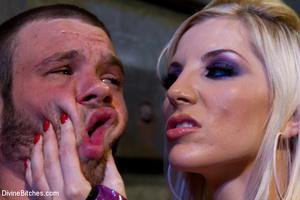 Perverted blonde babe dominates her ensl - XXX Dessert - Picture 4