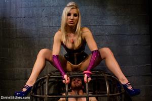 Perverted blonde babe dominates her ensl - XXX Dessert - Picture 5