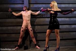 Perverted blonde babe dominates her ensl - XXX Dessert - Picture 6