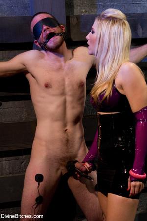 Perverted blonde babe dominates her ensl - XXX Dessert - Picture 11