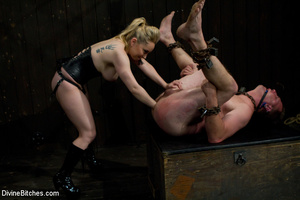 Two perverted blonde mistresses humiliat - XXX Dessert - Picture 4