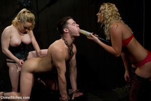 Two perverted blonde mistresses humiliat - XXX Dessert - Picture 5