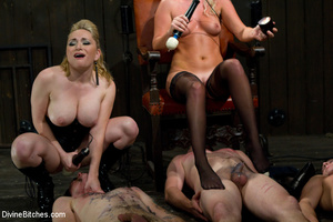 Two perverted blonde mistresses humiliat - XXX Dessert - Picture 9