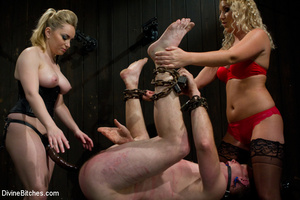 Two perverted blonde mistresses humiliat - XXX Dessert - Picture 12