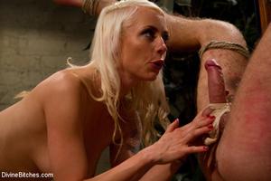 Blonde cruel mistress bound her naked sl - XXX Dessert - Picture 7