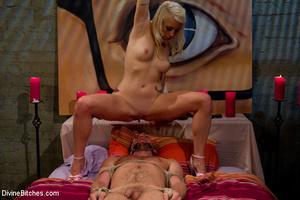 Blonde cruel mistress bound her naked sl - XXX Dessert - Picture 9