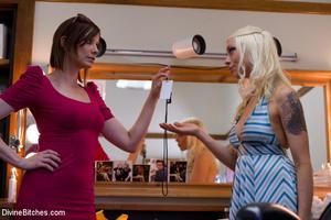 Blonde cruel mistress bound her naked sl - XXX Dessert - Picture 10