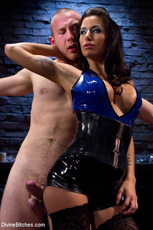 Two adorable busty dominatrixes in sexy  - Picture 3