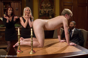 Young enslaved guy gets his pecker and a - XXX Dessert - Picture 1