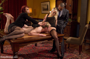 Young enslaved guy gets his pecker and a - XXX Dessert - Picture 2