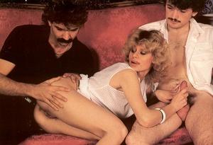 Seventies hottie enjoys two big dicks in - XXX Dessert - Picture 3